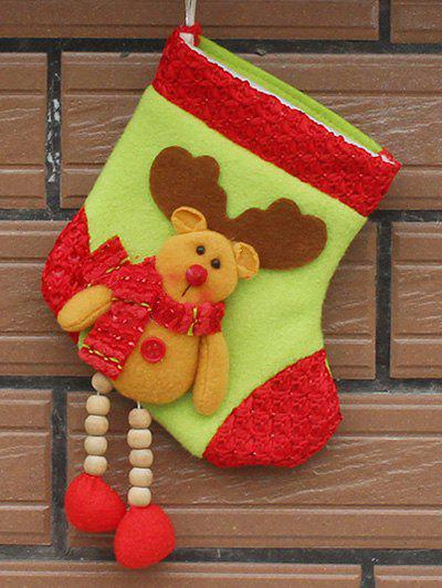 Merry Christmas Decoration Deer Pattern Hanging Santa Present SockHOME<br><br>Color: YELLOW; Event &amp; Party Item Type: Party Decoration; Occasion: Christmas,Party; Size(L*W)(CM): 11.5*22*14.5; Weight: 0.046kg; Package Contents: 1 x Christmas Sock;