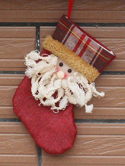 Santa Present Stocking Sock Christmas Tree Festival DecorationHOME<br><br>Color: RED; Event &amp; Party Item Type: Party Decoration; Occasion: Christmas,Party; Size(L*W)(CM): 10.5*19*12.5; Weight: 0.040kg; Package Contents: 1 x Christmas Sock;