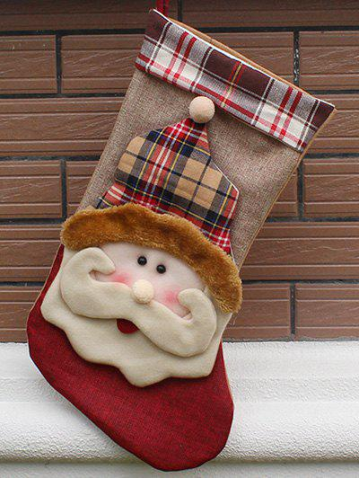 Christmas Santa Hanging Stocking Decoration Present Bag SockHOME<br><br>Color: COLORMIX; Event &amp; Party Item Type: Party Decoration; Occasion: Christmas,Party; Size(L*W)(CM): 23.5*46*27; Weight: 0.140kg; Package Contents: 1 x Christmas Sock;