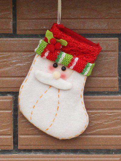 Christmas Santa Xmas Tree Decor Hanging Present Bag SockHOME<br><br>Color: RED WITH WHITE; Event &amp; Party Item Type: Party Decoration; Occasion: Christmas,Party; Size(L*W)(CM): 13*10; Weight: 0.035kg; Package Contents: 1 x Christmas Sock;
