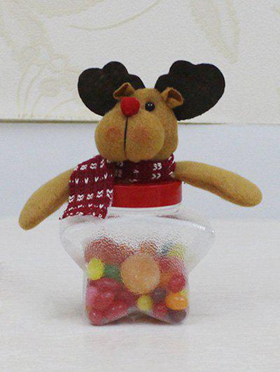 Christmas Supplies Plush Elk Doll Transparent Star Shape Candy JarHOME<br><br>Color: TRANSPARENT; Event &amp; Party Item Type: Party Decoration; Occasion: Christmas,Party; Weight: 0.218kg; Package Contents: 1 x Candy Jar;