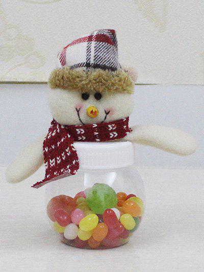 Christmas Cute Plush Snowman Toy Candy JarHOME<br><br>Color: TRANSPARENT; Event &amp; Party Item Type: Party Decoration; Occasion: Christmas,Party; Weight: 0.227kg; Package Contents: 1 x Candy Jar;
