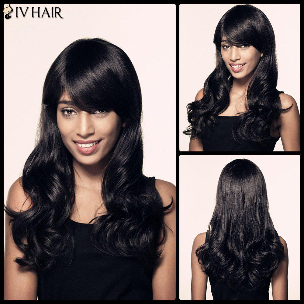 perruque de cheveux Longue en forme de Wavy Side Bang Faddish