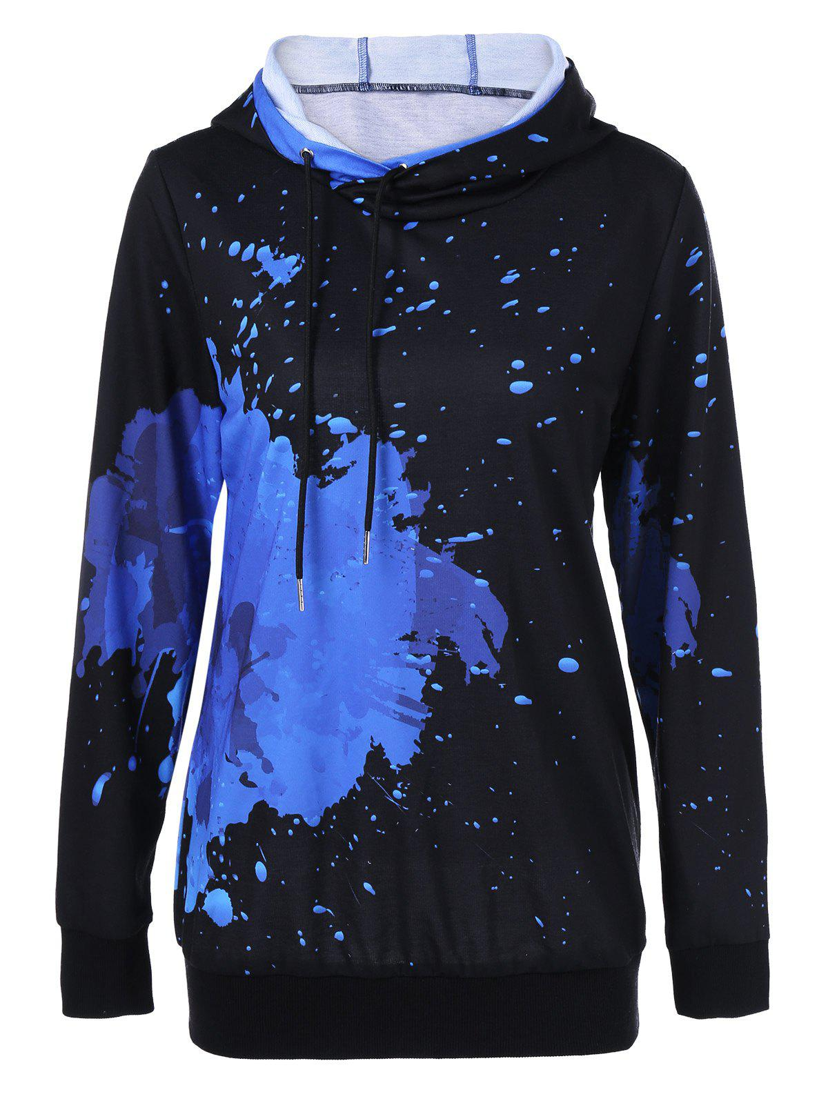 Hot Splatter Paint Drawstring Hoodie