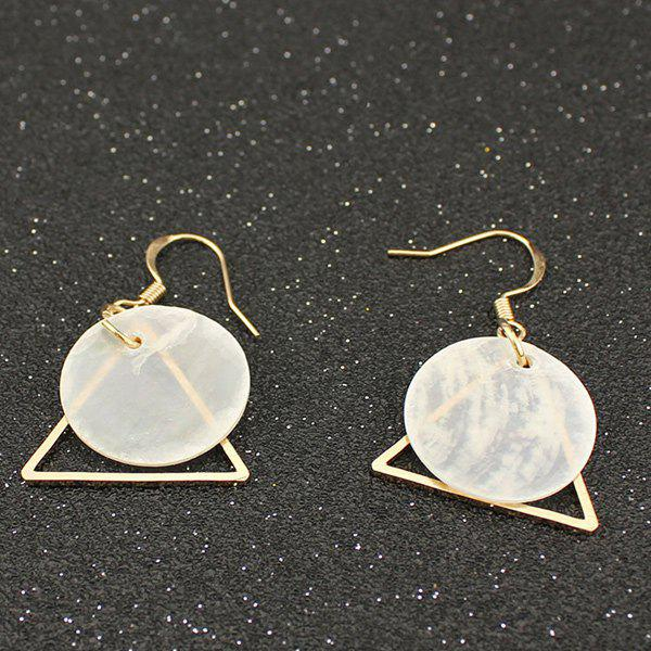 Online Circle Triangle Earrings