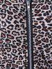 Athletic Pants With Leopard Zipper Hoodie -