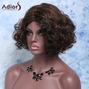 Charming Short Mixed Color Elegant Curly Synthetic Wig For Women - COLORMIX