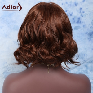 Short Side Parting Fluffy Curly High Temperature Fiber Wig - RED BROWN