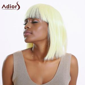Stylish Straight Synthetic Full Bang Bob Wig For Women - LIGHT GOLD
