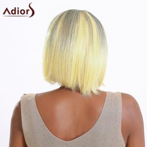 Boutique Short Straight Full Bang Gradient Women's Synthetic Hair Wig - COLORMIX