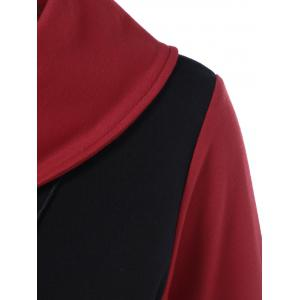 Side Collar T-Shirt - RED WITH BLACK XL