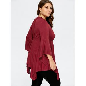 Plus Size Empire Waist Asymmetrical Tee -