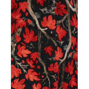 Plus Size Maple Print Baggy Dress -