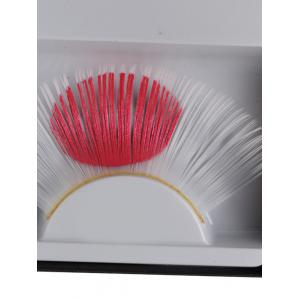 Pair of Japanese Flag False Eyelashes - WHITE