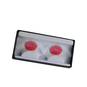 Pair of Japanese Flag False Eyelashes - White - W79 Inch * L71 Inch