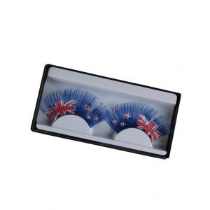 New Zealand Flag Pattern False Eyelashes - Blue - W79 Inch * L71 Inch
