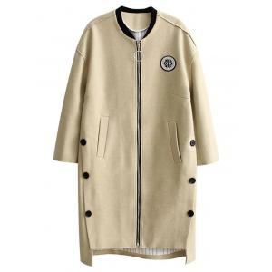 High Low Cocoon Coat