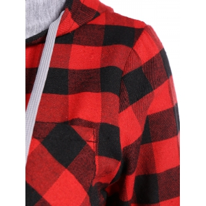 Hooded Checked Blouse -