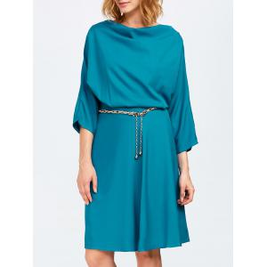 Cowl Neck A Line Dress