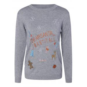 Crew Neck Christmas Pullover Sweater