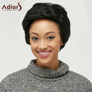 Adiors Layered Shaggy Straight Synthetic Wig - BLACK