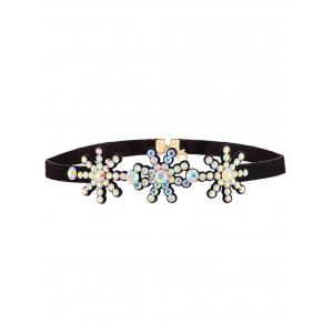 Rhinestoned Snowflake Choker Necklace