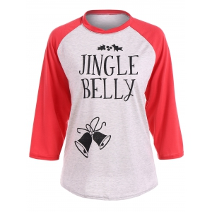 Christmas Raglan Sleeve Jingle Belly T-Shirt