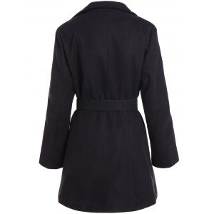 Belted Plus Size Overcoat -