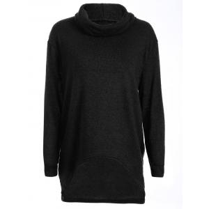 Turtleneck Long High Low Sweater