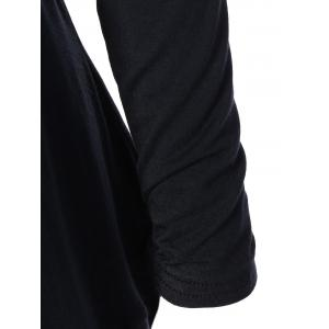 Collarless Asymmetric Drape Long Cardigan -