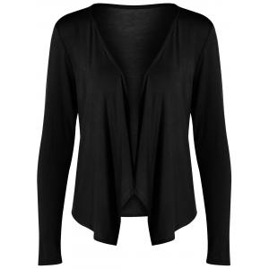 Long Sleeve Drape Open Front Short Cardigan