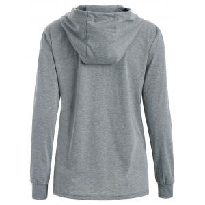 Funny Print Pullover Hoodie - GRAY XL