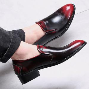 Engraving Point Toe Casual Shoes -