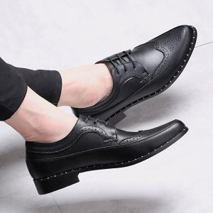 Point Toe Casual Shoes - BLACK 43