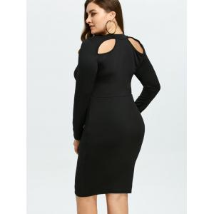 Cut Out Plus Size Bodycon Tight Dress -