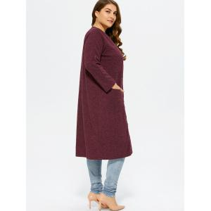 Collarless Button Up Long Coat -