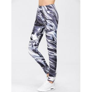 Gym Sports Print Leggings - COLORMIX XL
