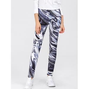 Gym Sports Print Leggings - Colormix - S