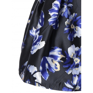 Sleeveless Floral Print Fit and Flare Dress -