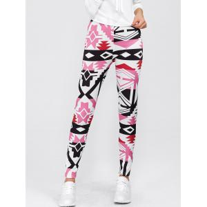 Geometric Print High Waisted Leggings