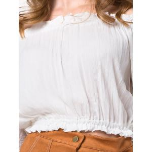 Pleated Cropped Off The Shoulder Blouse -
