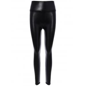 PU Leather High Waisted Leggings