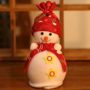 Christmas Ornament Supplies Snowman Pendant Apple Candy Bag - Red - L