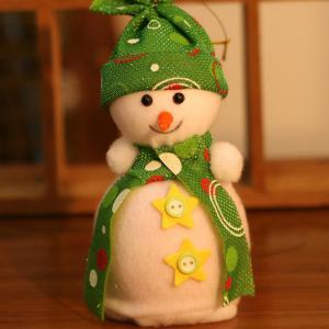 Christmas Ornament Supplies Snowman Pendant Apple Candy Bag - Green