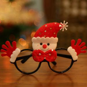 Christmas Supplies Snowman Cartoon Glasses Frame - Red