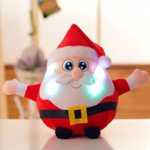 Christmas Santa Best Gift Glowing Plush Stuffed Doll - Red