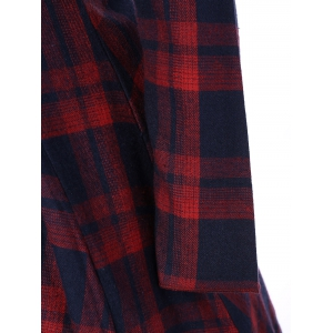 Tartan Plaid Flare Dress -