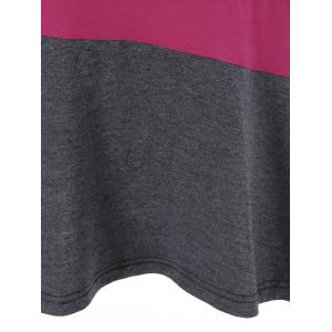 Colorful Print Longline T-Shirt - COLORMIX XL