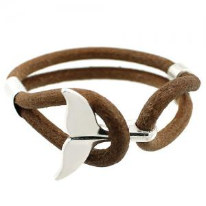 Artificial Leather Rope Fishtail Bracelet