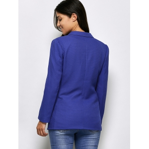 Two Button Textured Blazer With Pockets -
